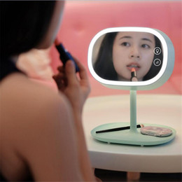 mirrored ball light Coupons - New Creative LED Lamp Makeup Mirror Night Lights Mirror Lamp Smart Home lights Table Lamp for Birthday Christmas Gift