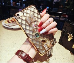 Wholesale Mobile Phone Accessories Bling - 10PCS Bling Gemstone Gem Cell Mobile Phone Protective Cover Case Accessories With Ring Stand Holder For iPhone 7   7 6 6S Plus SJK-004