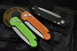 Wholesale Microtech Folding Knives - Microtech LUDT folding knife D2 blade 6061-T6 Aluminum alloy handle outdoor camping hunting pocket fruit kitchen Knives EDC tool