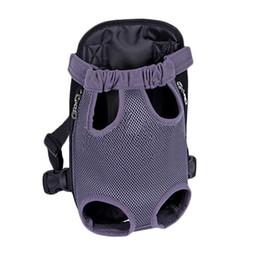 Wholesale Soft Dog Backpacks - S5Q Pet Puppy Dog Portable Nylon Carrier Backpack Front Net Bag Shoulder Backpack AAAGJX