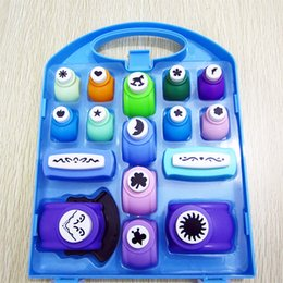 Wholesale Free Craft Work - Wholesale- Free shipping of craft punch set (16pcs pp box)for scrapbook handmade paper punches for DIY arts work hole punches