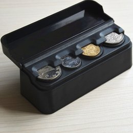 Wholesale Square Plastic Case - Wholesale- Black Car Auto Interior Plastic Coin Case Storage Box Holder Container Organizer