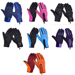 glove phone Promo Codes - 6 Colors Winter Outdoor Cycling Full Finger Gloves - Warm Bike Sport Gloves Motorcycle Bicycle Equipment Gloves Phone Glove S-XL