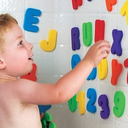 Wholesale Wholesale Stick Letters - Set Of 36 Pcs Foam Floating Letters And Numbers Stick Bath Time Kids Toy Children Puzzle Early Childhood Tool 7 8hx J R