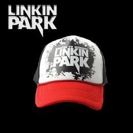 Wholesale Parks Prints - Linkin Park Letters Snapback Hat Printed Mesh Net Cap For Net Hat Men&Women Hip Hop Street Hiphop Caps