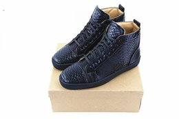 Wholesale Wedding Heels Boot Style - 2017 New Style Snakeskin Round Toe Men Shoes Casual Leather Platform Mens Ankle Boots High Quality Zapatillas Hombre