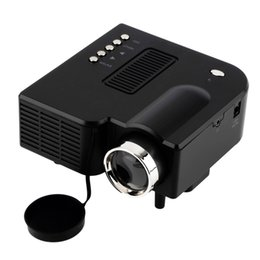 Wholesale Multimedia Player Hdmi Input - Wholesale- 10pcs UC28 LED Digital Video Game Projector Multimedia player Input AV VGA USB SD HDMI Built-in Speaker data show mini proyector