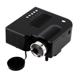 Wholesale Video Game Speakers - Wholesale- 10pcs UC28 LED Digital Video Game Projector Multimedia player Input AV VGA USB SD HDMI Built-in Speaker data show mini proyector