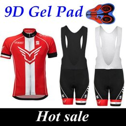 Wholesale Felt Jersey - Catazer 2017 Felt Summer Style Red Cycling Jerseys Ropa Ciclismo Breathable Bike Clothing Quick-Dry Bicycle Sportwear 9D GEL Pad Bike Shorts