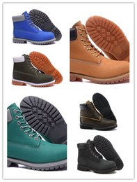 Wholesale Transparent Martin Boots Green - Best 2017 Classic Boots Double Color Transparent Bottom Damping Cushion Insole Ankle Fashion Outdoor Waterproof Snow Boots