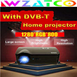 Wholesale Lcd Wxga - Wholesale-LED Projector LED WXGA 720P 1080P LCD HDMI USB 5500lumens DVB-T support MPEG4 TV Home Theater Game Video Proyector HD Projector