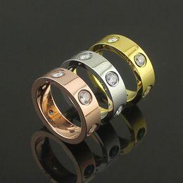 Wholesale Screwdriver Rings - Titanium steel rose gold ring silver lover ring screwdriver wedding jewelry birthday present