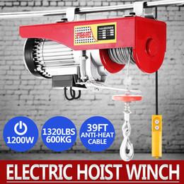 Wholesale cable hoists - Hoist Lift 1320LBS 600KG Overhead Electric Hoist 110V Electric Wire Hoist Remote Control Garage Auto Shop Overhead Lift (1320LBS