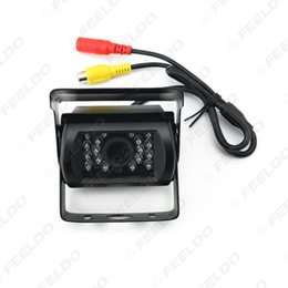 Wholesale Reversing Camera Cables - FEELDO 24V Bus Truck 170 Degree Rearview Night Vision IR Camera Reversing Car Camera with Video Cable #1256