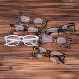 Wholesale Leopard Print Spectacle Frames - Wholesale- Acetate Eyeglasses Frames Clear Lens Fake Glasses Leopard Transparent Brown Vintage Glasses Eyewear Spectacle Frames Women Men