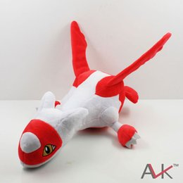 Wholesale Latias Latios Plush - Wholesale- New 1 PCS plush toys Red Latias Blue Latios Soft Stuffed Doll With Tag Anime Cartoon toy Approx 30cm 12""