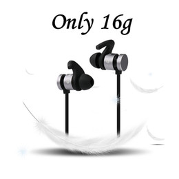 Wholesale Universal Fitness - New Bluetooth Earbuds Wireless V4.2 Magentic Stereo Headphones Sweatproof Sports Headset Noise Reduction Earphones Fit for Gym & Fitness
