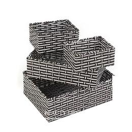 Wholesale Wicker Wholesalers - Handmade Wicker Storage Basket Books Crafts Cosmetic Box Household Desktop Sundries Furnishing Decorative Reto Organizer no56
