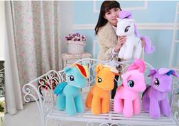 Wholesale Wholesale Plush Horses - 2017 New Design Rainbow Horse Cloth Dolls Cute Plush toys for Children