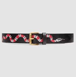 2017 men belt top quality Men's belts luxury designer High quality Genuine leather man belt With box For Snake strap