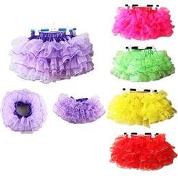 ballet clothes for baby Promotion Baby Kids Girls Tutu Jupe Tulle Pettiskirt Cake Jupes Fluffy Chiffon Jupe Ballet Dance Wear Princess Dance Party Costume Clothes 2-11Ys