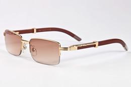 Wholesale Vintage Wood - free shipping 2017 vintage retro sunglasses for men lunettes de soleil homme wood bamboo sunglasses with box case