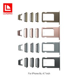 Wholesale Iphone Sim Part - 5 in 1 Power On Off Button Volume Button Mute Button SIM Card Tray Holder For iPhone 6s Replacement Parts free shipping