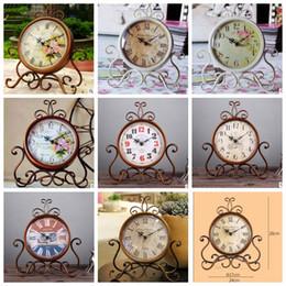 Wholesale Retro Desk Clocks - Retro Vintage Decorative Desk Clock Creative Home Living Room Decor Table Floor Clocks Desk Clock 16 design KKA3112