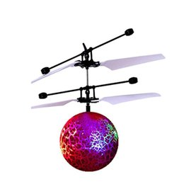 Wholesale Lighted Helicopters - Wholesale- Modern RC Toy Epoch Air RC Flying Ball RC Drone Helicopter Ball Shinning LED Lighting Toy for Kids Teenagers Drop Shipping Jan17