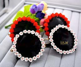 Wholesale Bohemia Glass Wholesale - Wholesale- 2017 Summer Style Women Sunglasses Bohemia Small Flower Boutique Sun Glasses Female Vacation Party Beach Ladies sunglasses