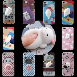 Wholesale Rubber Fingertips - Phone Case For Iphone 6 6S 7 plus iphon7 TPU protector phone cases soft decompression toys soft rubber fingertip toy pattern case GSZ352