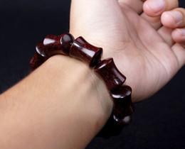 Wholesale Sandalwood Bracelets - Brand nature Lobular red sandalwood beads bracelet 15 * 20mm no additive