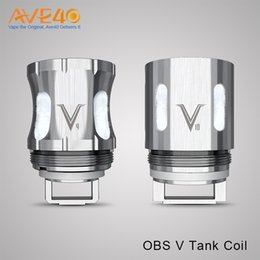 Wholesale Dual Coil Ecig - OBS V Tank Coil V4 v8 v10 v12 fit Use for OBS V Tank Max Support 260w PD270 BOX MOD Max 234w Dual 20700 Battery or 18650 Cell ecig mods top