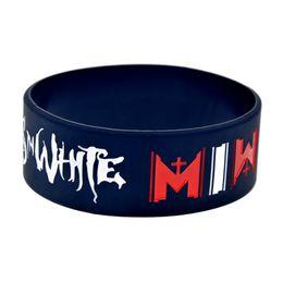 Deutschland Großhandel 50PCS / Lot MIW Motionless im weißen Silikonarmband tragen dieses latexfreie Armband, um das zu stützen, das Sie lieben Versorgung