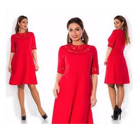 Wholesale Mini Dress Size Large - Wholesale free shipping Summer Dress Plus Size Women Clothing Large Size Loose Lace Dress Big Size Short Dress Casual Women 6XL