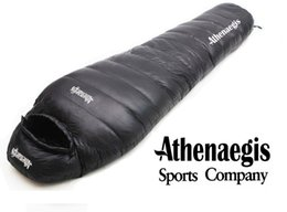 Wholesale Nylon Sleeping Bags - Athenaegis 1200G white goose down filling can be spliced mummy ultra-light goose down sleeping bag