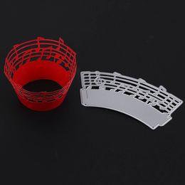 Wholesale Album Music - Music Note Cake Cup DIY Metal Cutting Dies Stencil Scrapbook Card Album Paper Embossing Crafts