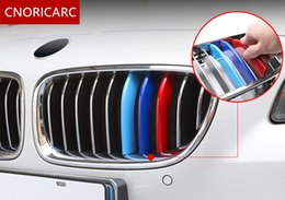 Wholesale Power Performance Cars - Tricolor Buckle Front Grille Trim Strips For BMW X1X3X4X5X6 7 Series ABS Car styling Motorsport Power Performance