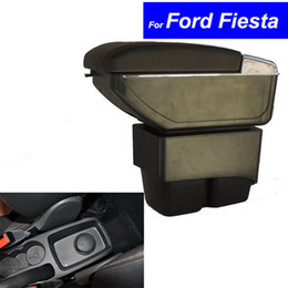 Wholesale Ford Parts - Leather Car Center Console Armrests Storage Box for Ford Fiesta 2003 ~ 2010 2011 2012 2013 2014 Auto Parts Free Shipping