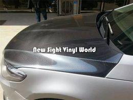 Wholesale Gloss Carbon Fiber - Premium Super Shiny Black Gloss 5D Carbon Fibre Vinyl Car Wrap Film Air Free Bubble Car Styling