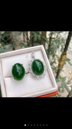 Wholesale Antique Jade Rings - Vintage natural and jade suits are set in 925 pure silver wedding ring vintage female royal jewelry