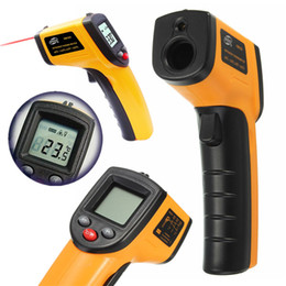 Wholesale Digital Lcd Display Infrared Thermometer - Non-Contact IR Infrared Thermometer GM320 LCD Display Digital Temperature Gun Temp Thermometer Laser Handheld