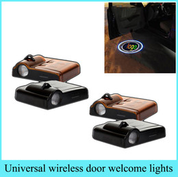 Wholesale Toyota Laser Light - 1 set Wireless Led Car door Logo emblem Door Projector Laser Light LED Welcome Light for BMW Mercedes Audi VW Honda Toyota Nissan Buick Kia