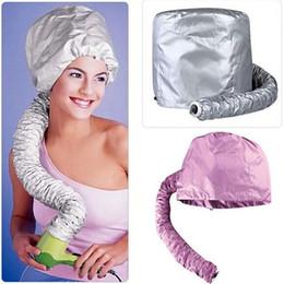 оптовые персы для волос Скидка Wholesale- Beauty Hair Dryer Bonnet Caps Soft Hood Attachment Home Haircare Women Hairdressing Hat Perm hair cap helmet barbershop