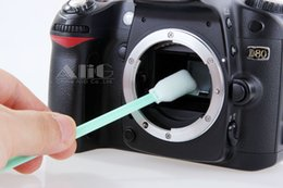 Wholesale Solvent Swabs - Wholesale- Camera cleaning kit CCD CMOS sensor swab unique micro fiber with cleaning solvents mirrorless 600d d5100 dslr camera accessories