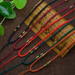 Wholesale Handmade Cord Necklace - New Fashion 2pcs DIY Lanyards Pendant Lanyard String Handmade Cords Pendant Necklace Cords Chains DIY Jewelry Accessories