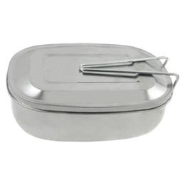 Wholesale Mess Tins - Wholesale- DSGS Silver Tone Picnic Case Mess Tin Lunch Box w Handle