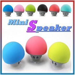 Wholesale Minions Speakers - Mini Mushroom bluetooth speaker Suction Cup Handfree Wireless cellphone Holder for iphone 6 6s samsung s6 Minion For iphone 5s for samsung
