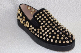 Wholesale Black Hole Office - Fashion LTTL High Quality Summer Casual Shoes Men Creepers Gold Spikes Breathable Holes Flats Platform Large Size 45