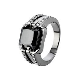 Monili degli uomini di modo Black CZ Black Gold Filled Fidanzamento Wedding Party Promise Ring SZ6-10 supplier black promise rings for men da anelli di promessa nera per gli uomini fornitori